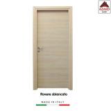 Porta interna a battente legno mdf laminato reversibile rovere sbiancato 210x70 cm