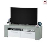 Mobile porta tv moderno bianco soggiorno design in legno ante base televisione