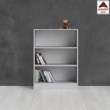 Libreria moderna bianca scaffale mobile kit ripiani 2 mensole soggiorno design