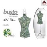 Manichino busto sartoriale donna botanic da sarta con supporto in legno h.170