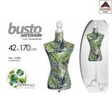 Busto manichino sartoriale donna modello botanic da sarta supporto legno h.170