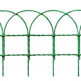 Rete ornamentale altezza 40 cm colore verde zincato e plasticato rotolo da 25 m