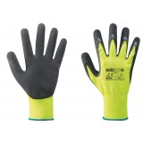 Pa 12 -  guanti nylon/lattice giallo fluo/nero tg.9