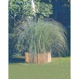 Bordatura recinzione prato giardino aiuola tonda in legno di pino 5x20x200 cm