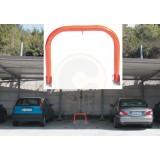 Dissuasore di parcheggio parking stop manuale cm.53x45h in acciaio