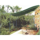 Veranda copertura tettoria in acciaio mt.3x4 verde top poliestere