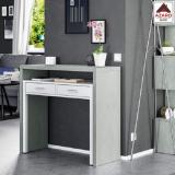 Scrivania ufficio moderna bianca estraibile in legno scrittoio cassetti porta pc