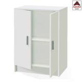 Mobile armadio multiuso 2 ante basso bianco kit armadietto bagno in legno