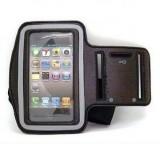 Custodia fascia da braccio nero sport per iphone 4 4s 5 5s 5c ipod