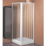 Box doccia in pvc a chiusura soffietto cm.60/80 x 60/80 estensibile ambo lati