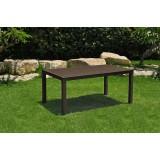 Keter tavolo polirattan giardino ''melody 160''cm.160x94x74h marrone