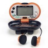 Contapassi pedometro con schermo digitale orologio radio am / fm nero