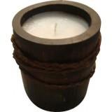 2 pz candela etnica bamboo con cera cilindrica cm.12x22