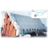 Kg 79 -  telo copertura polietilene bianca/nera h.150x600