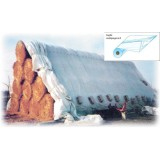 Kg 125 -  telo copertura polietilene bianco/nero h.150x1200