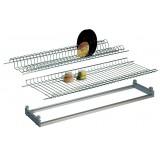 Kit colapiatti cromato telaio in alluminio regolabile 30÷36 x cm.86