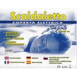 Scaldaletto coperta comfort termica singola cm. 80x150 temp regolabile