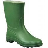 Stivali tronchetto pvc colore verde/nero n. 42