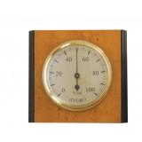 Igrometro in legno cm.9,5x8,5 quadrante ottonato