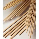 Pz 50 -  spine in legno zigrinato mm. 8 x cm.100