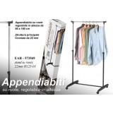 Stand appendiabiti stender su ruote 160h cm regolabile abiti plastica