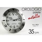 Orologio a parete modello rolex in metallo silver 35 cm