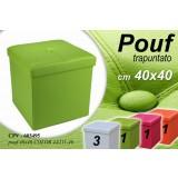 Pouf puff pouff classico trap 40*40 contenitore pieghevole assortiti