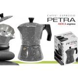 Caffettiera 1 tazza in alluminio petra stone moka caffè espresso, napoletano