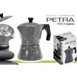 Caffettiera moka 2 tazze in alluminio petra stone con guarnizione in silicone