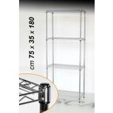 Scaffale ufficio libreria modulare metallo cm 75x35x180 h