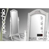 Specchio regolabile 49,5x50,5x157 cm grigio shabby chic arredo casa