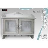 Mobiletto Porta Oggetti Pensile Cucina Presine 42x14x36 Cm Shabby Chic