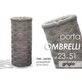 Portaombrelli design ombrello grigio 23x51 cm supporto arredo
