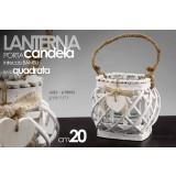 Portacandela lanterna intreccio bambu 20cm decorazioni giardino