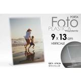 Cornice portafoto in plastica trasparente verticale 9x13 cm