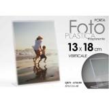 Cornice Portafoto In Plastica Trasparente Verticale 13x18 Cm