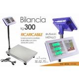 Bilancia elettronica pesa pacchi con colonna e pedana con display, max 300kg