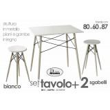 Set tavolo rettangolare + 2 sgabelli  arredo cucina bar ristorante