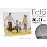 Cornice portafoto in plastica trasparente orizzontale 30x21 cm