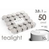 Set 50 pezzi tealight diametro 3,8 x cm 1 di altezza