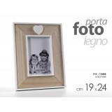 Cornice porta foto in legno decoro love cuore 19x24 cm arredamento
