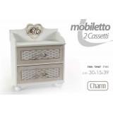 Mobile portaoggetti shabby anticato 35 x 15 x 39 h legno