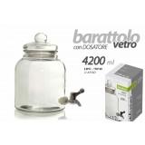 Barattolo contenitore cucina in vetro con dosatore 4200 ml utilissimi ldw-730740