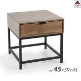 Comodino camera da letto cameretta tavolino design industriale moderno in legno