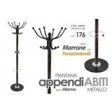 Appendiabiti piantana metallo base marmo colore marrone 176 cm + porta ombrelli