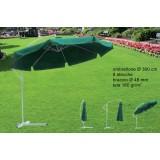 Ombrellone all.c/braccio verde 300-8/48UB-001GR8stec.48160gr/m2(F30.5)