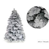Albero natale abete bianco snow h. 240 cm rami 1725 addobbi natalizi