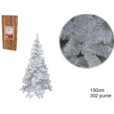 Albero natale abete bianco h. 150 cm 302 rami addobbi natalizi