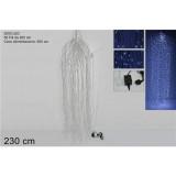Cascata 2000 luci led c/controller 2 mt bianco freddo decorazione natale