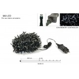 Minilucciole 960 led bianco c/gioco luci yc-31led960wy